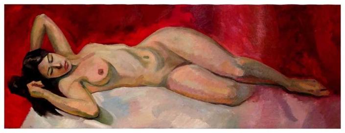 Relax olio su tela – 2012 – cm 50×130