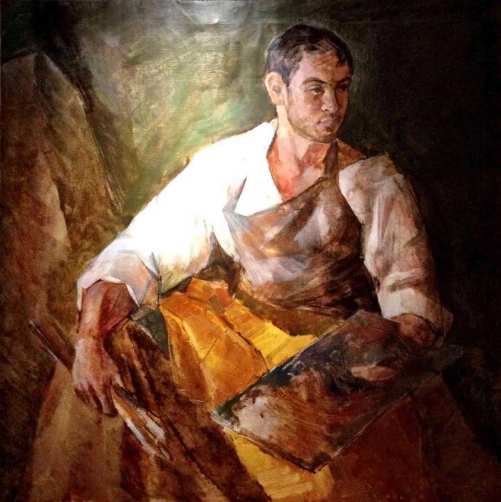 Pittore olio su tela – 2012 – cm 100×100