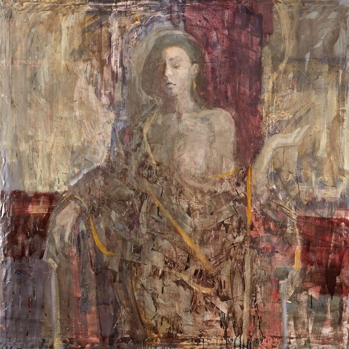 Nobildonna olio su tela – 2015 – cm 145×145