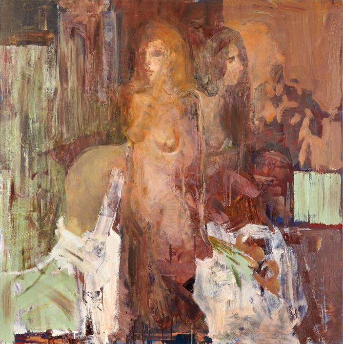Specchio olio su tela – 2015 – cm 145×145