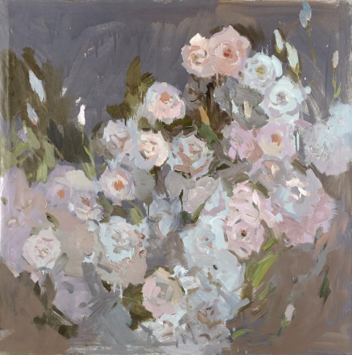 Rose olio su tela – 2015 – cm 144×144