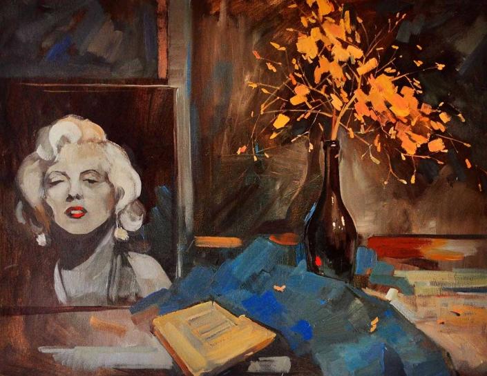 Marilyn olio su tela – 2012 – cm 60×80